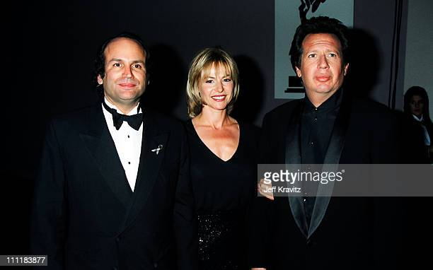 Michael Fuchs Linda Doucett and Garry Shandling during 1994 Emmy Awards in Los Angeles CA