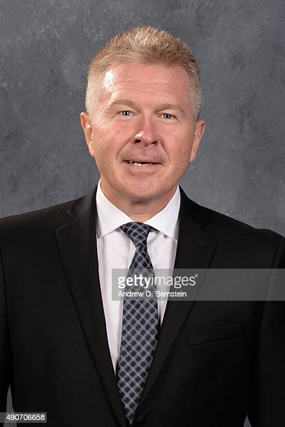 Michael Futa of the Los Angeles Kings poses for his official headshot for the 20152016 season on September 17 2015 at the Toyota Sports Center in El...