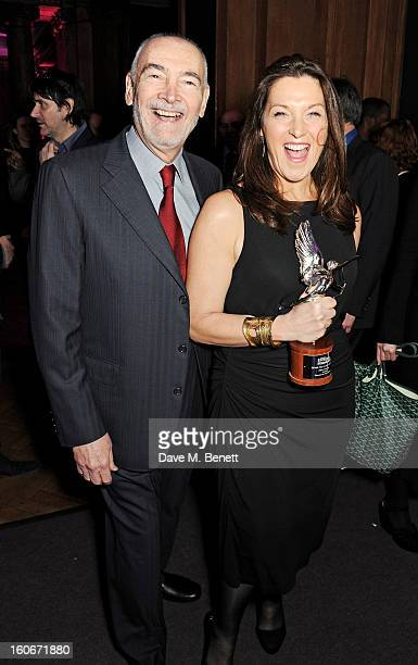 Michael G Wilson and Barbara Broccoli winners of Film of the Year for 'Skyfall' attend the London Evening Standard British Film Awards supported by...