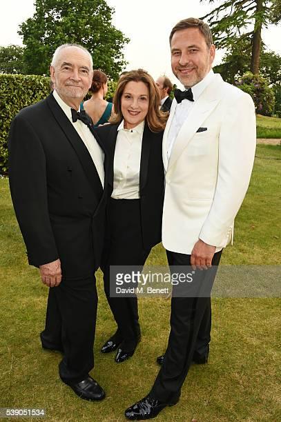 Michael G Wilson Barbara Broccoli and David Walliams attend the Duke of Edinburgh Award 60th Anniversary Diamonds are Forever Gala at Stoke Park on...