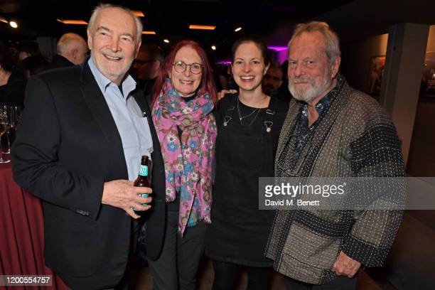 Michael G Wilson Maggie Weston Holly Gilliam and Terry Gilliam attend a drinks reception celebrating Amanda Nevill as she departs her role as CEO of...