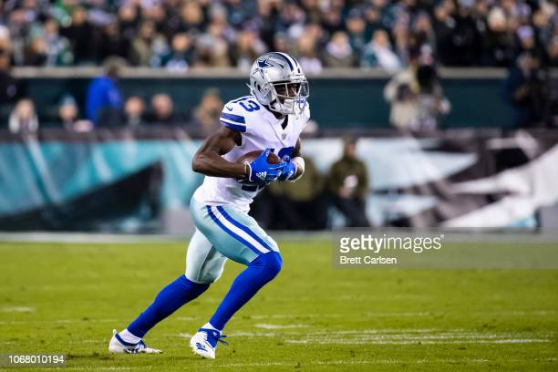 Michael Gallup of the Dallas Cowboys runs with the ball during the first half against the Philadelphia Eagles at Lincoln Financial Field on November...