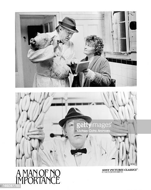 Michael Gambon and Brenda Fricker in scenes from the film 'A Man Of No Importance' 1994