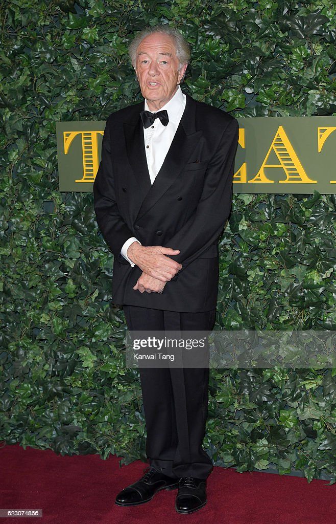 Michael Gambon attends The London Evening Standard Theatre Awards at The Old Vic Theatre on November 13, 2016 in London, England.