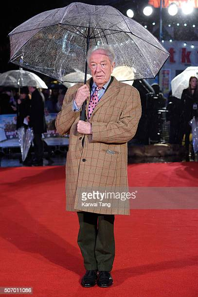 Michael Gambon attends the World Premiere of 'Dad's Army' at Odeon Leicester Square on January 26 2016 in London United Kingdom