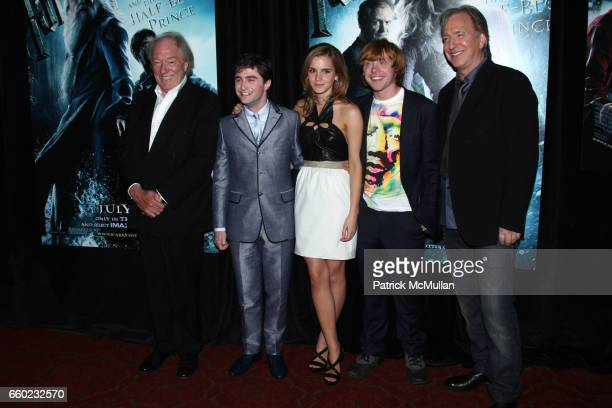 Michael Gambon Daniel Radcliffe Emma Watson Rupert Grint and Alan Rickman attend WARNER BROTHERS PICTURES Presents the North American Premiere of...