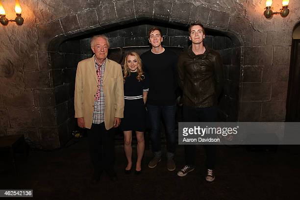 Michael Gambon Evanna Lynch Oliver Phelps and James Phelps participtaes in A Celebration of Harry Potter at Universal Orlando on January 30 2015 in...