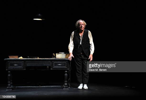 Michael Gambon performs on stage during the press night of 'Krapp's Last Tape' at the Duchess Theatre on September 22 2010 in London England