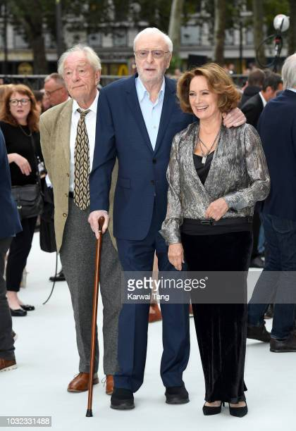 Michael Gambon Sir Michael Caine and Francesca Annis attend the World Premiere of 'King Of Thieves' at Vue West End on September 12 2018 in London...