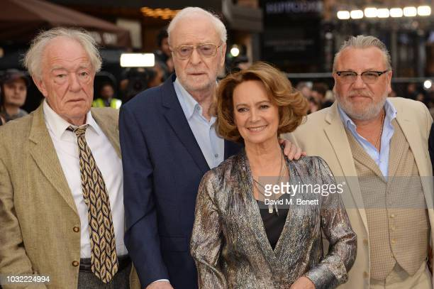 Michael Gambon Sir Michael Caine Francesca Annis and Ray Winstone attend the World Premiere of King Of Thieves at Vue West End on September 12 2018...