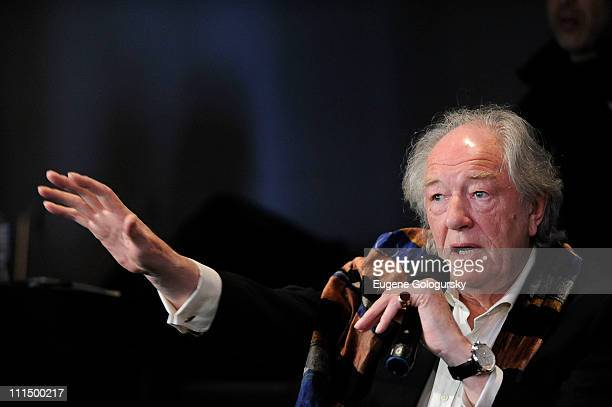 Michael Gambon visits the Apple Store Soho on April 3 2011 in New York City