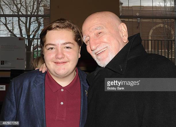 Michael Gandolfini and Dominic Chianese attend the James Gandolfini Street Naming Ceremony on December 1 2013 in Park Ridge New Jersey