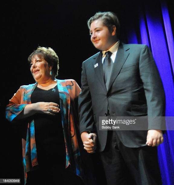 Michael Gandolfini and Johanna Antonacci attends the Wounded Warrior Project Carry Forward Awards Show at Club Nokia on October 10 2013 in Los...