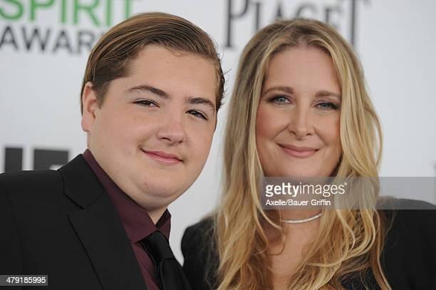 Michael Gandolfini and Marcy Wudarski arrive at the 2014 Film Independent Spirit Awards on March 1 2014 in Santa Monica California