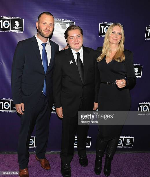 Michael Gandolfini and Marcy Wudarski attends the Wounded Warrior Project Carry Foward Awards Arrivals at Club Nokia on October 10 2013 in Los...
