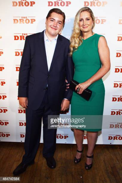 Michael Gandolfini and Marcy Wudarski pose for a portrait at 'The Drop' after party during the 2014 Toronto International Film Festival held at CIBO...