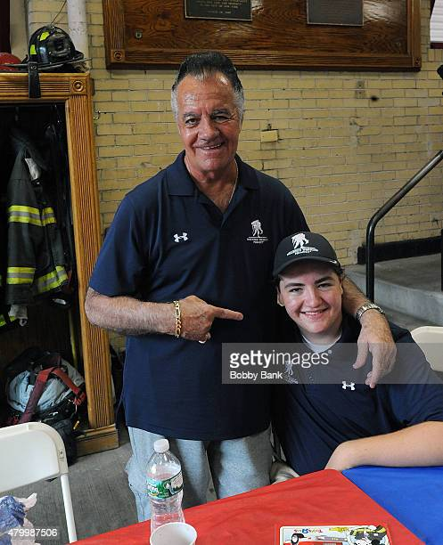 Michael Gandolfini and Tony Sirico attends the 2015 Wounded Warrior Adaptive Sports Program at Rescue Ladder Company on July 8 2015 in New York City