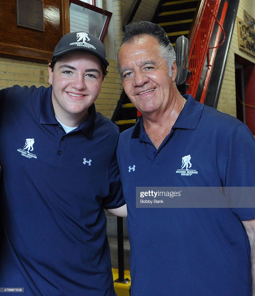 Michael Gandolfini and Tony Sirico attends the 2015 Wounded Warrior Adaptive Sports Program at Rescue #5 Ladder Company on July 8, 2015 in New York City.