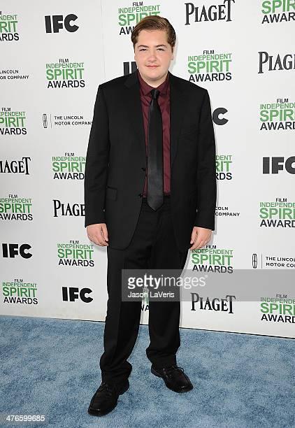 Michael Gandolfini attends the 2014 Film Independent Spirit Awards on March 1 2014 in Santa Monica California