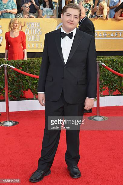 Michael Gandolfini attends the 20th Annual Screen Actors Guild Awards at The Shrine Auditorium on January 18 2014 in Los Angeles California