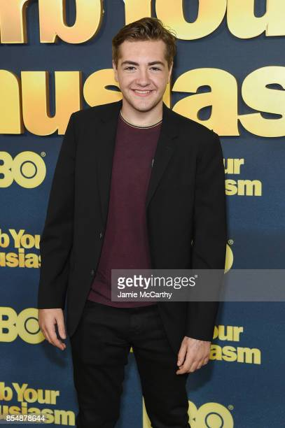 Michael Gandolfini attends the Curb Your Enthusiasm season 9 premiere at SVA Theater on September 27 2017 in New York City