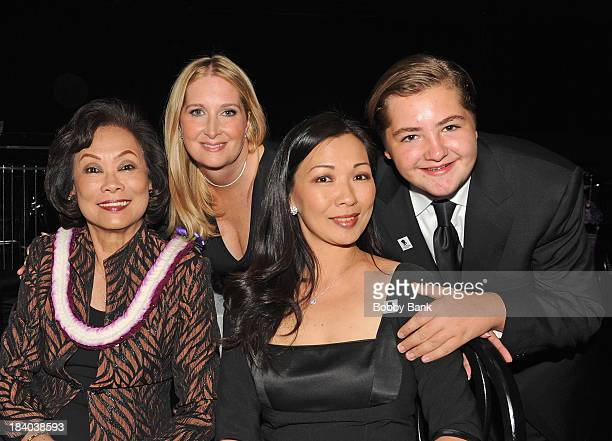 Michael Gandolfini Marcy Wudarski Deborah Lin and her motheri attends the Wounded Warrior Project Carry Foward Awards Arrivals at Club Nokia on...