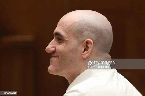 Michael Gargiulo listens during closing statements in his capital murder trial in Los Angeles Superior Court August 6 2019 Gargiulo also known as the...