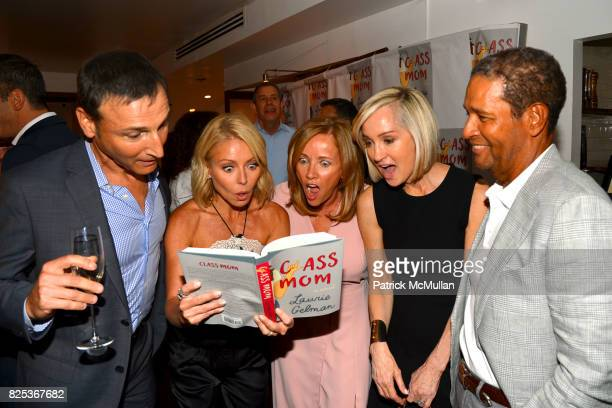 Michael Gelman Kelly Ripa Laurie Gelman Hilary Quinlan and Bryant Gumbel attend Michael Gelman Celebrates The Launch Of CLASS MOM A Novel By Laurie...