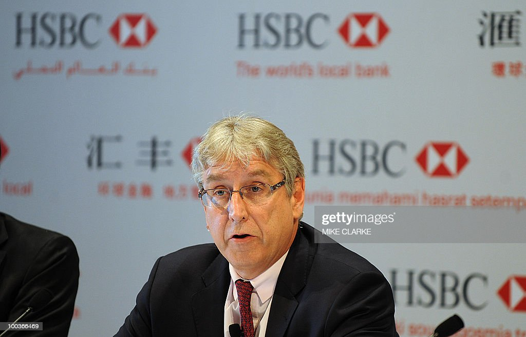 Michael Geoghegan, HSBC Group Chief Executive Officer, speaks at a press conference in Hong Kong on May 24, 2010. HSBC held their annual shareholders meeting.