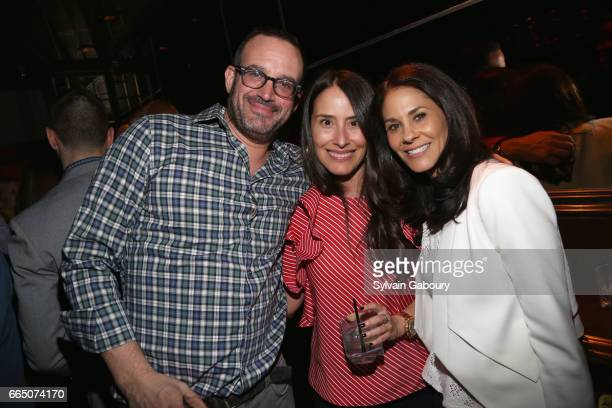 Michael Geschwer Cortnee Glasser and Tracy Wolfson attend 10th Anniversary of Celebrate Spring to Benefit the Parkinson's Foundation at Lavo on April...