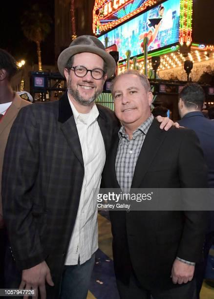 Michael Giacchino and Walt Disney Studios President Alan Bergman attend the World Premiere of Disney's RALPH BREAKS THE INTERNET at the El Capitan...