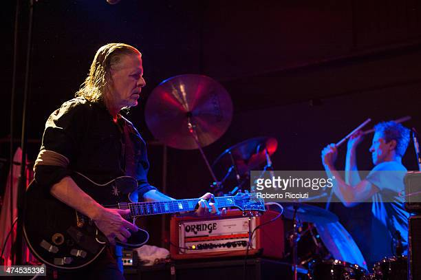 Michael Gira and Phil Puleo of Swans perform on stage at Glasgow Art School on May 23, 2015 in Glasgow, United Kingdom