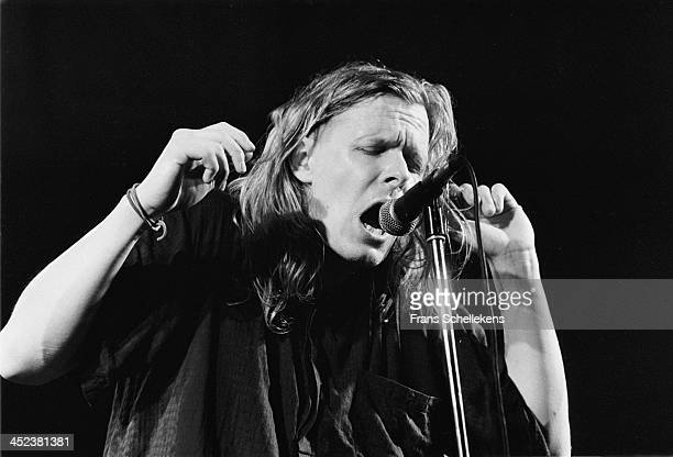 Michael Gira performs live on stage with Swans at the Paradiso in Amsterdam Netherlands on 29th May 1989