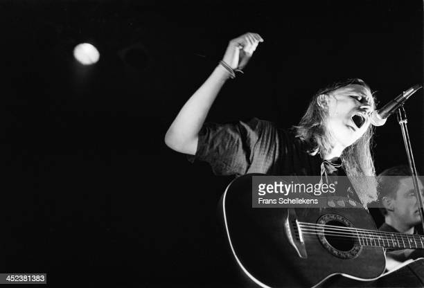 Michael Gira performs live on stage with Swans at the Paradiso in Amsterdam, Netherlands on 29th May 1989.