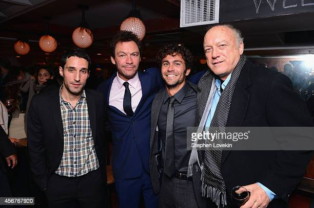 Michael Godere Dominic West Danny Fischer and John Doman attend the premiere of SHOWTIME drama The Affair held at North River Lobster Company on...