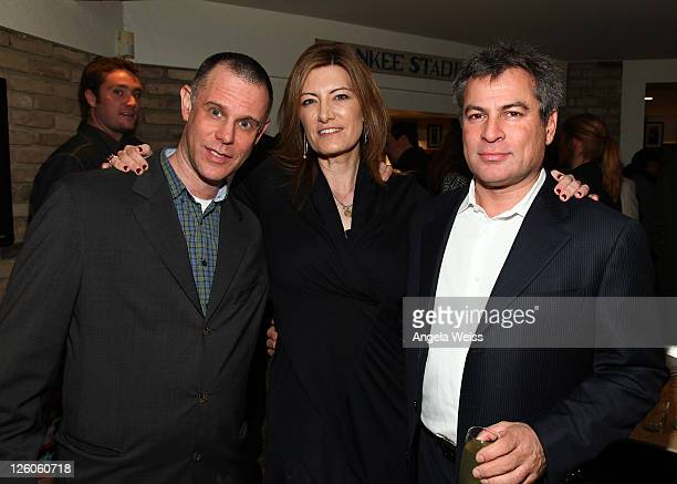 Michael Goldstone of Mom Pop Music Company President of Sony Music Entertainment Lia Vollack and Partner/CoCEO of AAM Andy Kipnes attend the Friends...