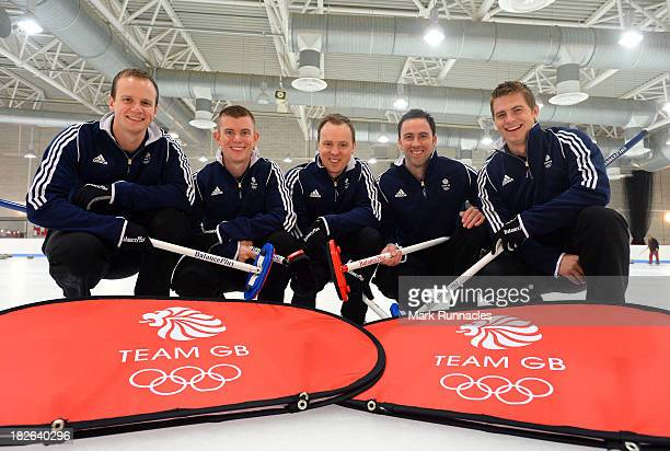 Michael Goodfellow Greg Drummond Tom Brewster David Murdoch and Scott Andrews during a press conference to announce they have been selected for the...