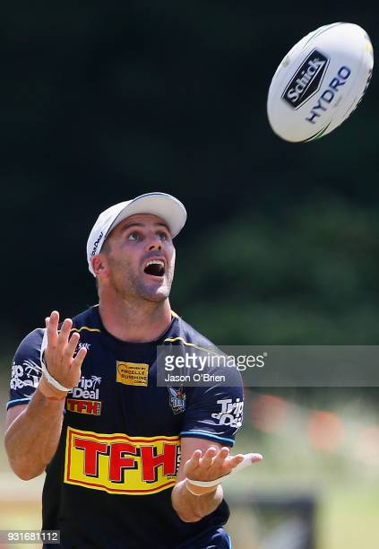 Michael Gordon during a Gold Coast Titans NRL training session at Parkwood on March 14 2018 in Gold Coast Australia