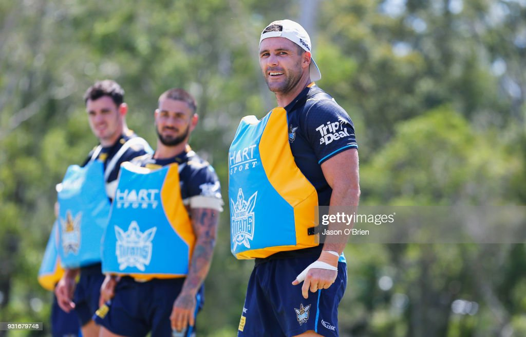Gold Coast Titans Training Session : News Photo