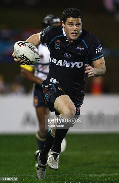 Michael Gordon of the Panthers in action during the round 19 NRL match between the Penrith Panthers and the North Queensland Cowboys played at CUA...
