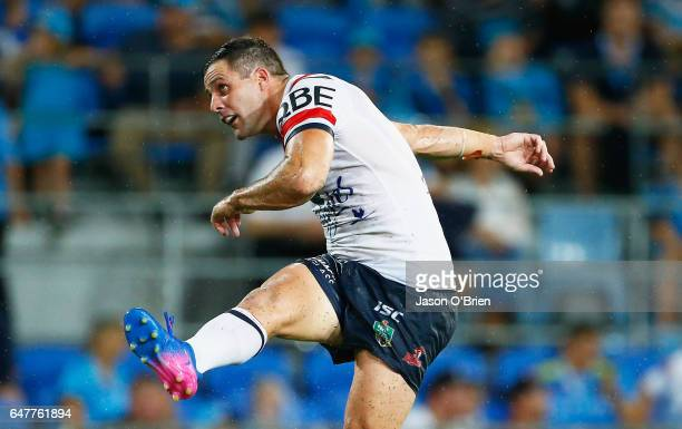Michael Gordon of the Roosters during the round one NRL match between the Gold Coast Titans and the Sydney Roosters at Cbus Super Stadium on March 4...