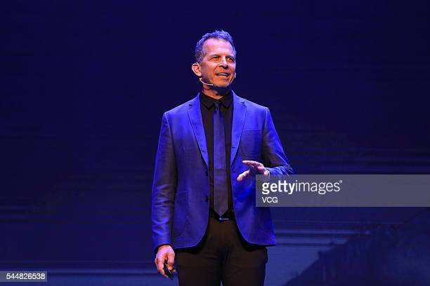 Michael Gough Chief design officer and vice President of Microsoft headquarters of the US delivers a speech themed during the International...