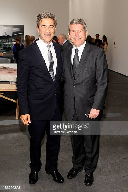 Michael Govan and Zev Yaroslavsky attend LACMA's 2013 Collectors Committee Gala Dinner at LACMA on April 13 2013 in Los Angeles California