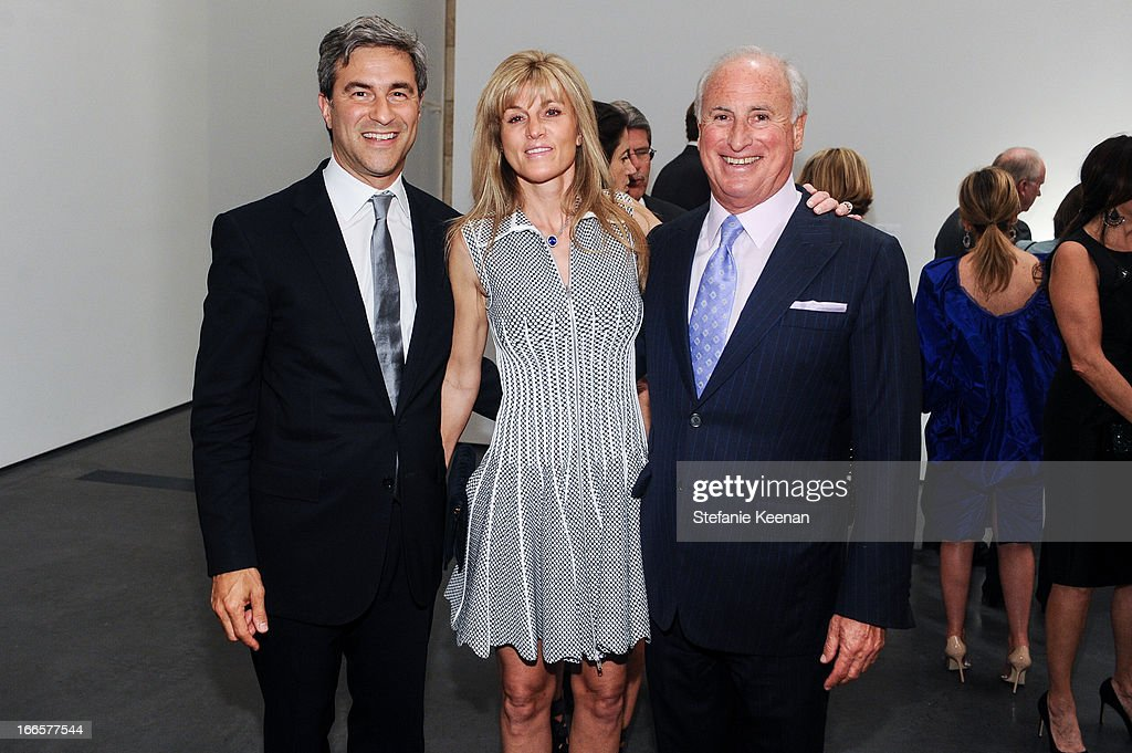 Michael Govan, Kaayla Cevan and Steve Roth attend LACMA's 2013 Collectors Committee - Gala Dinner at LACMA on April 13, 2013 in Los Angeles, California.