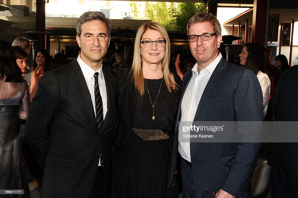 Michael Govan, Suzanne Deal Booth and Marc Glimcher attend LACMA Celebrates Opening Of James Turrell: A Retrospective at LACMA on May 22, 2013 in Los Angeles, California.
