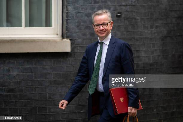Michael Gove MP Secretary of State for Environment arrives to attend a cabinet meeting at 10 Downing Street on June 11 2019 in London England Since...