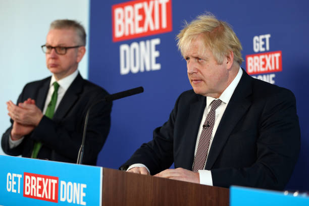 GBR: U.K.'s Johnson & Gove News Conference