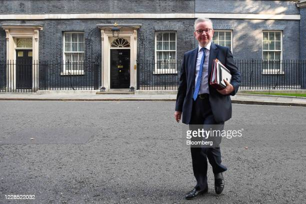 Michael Gove, U.K. Chancellor of the Duchy of Lancaster, arrives for a meeting of cabinet ministers in London, U.K., on Tuesday, Sept. 15, 2020. U.K....