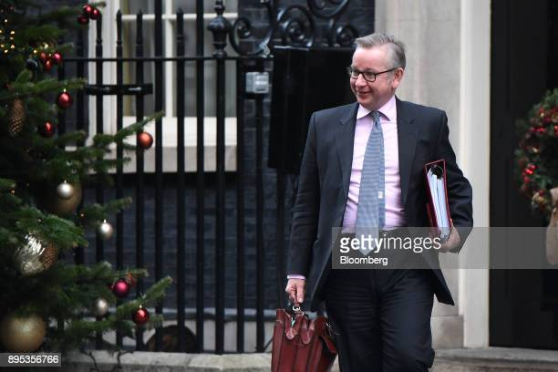 Michael Gove UK environment secretary departs following a cabinet meeting at number 10 Downing Street in London UK on Tuesday Dec 19 2017 European...