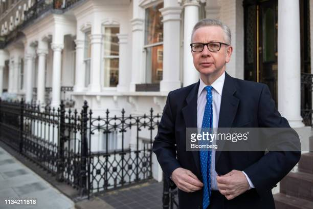 Michael Gove UK environment secretary departs from his home in London UK on Monday April 1 2019 Complicating the push for a resolution on Brexit is...